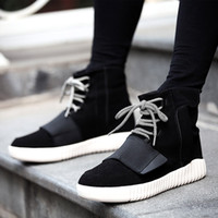 Wholesale High top male the trend of coconut shoes causal shoes male hip hop shoes lace up Breathable black red gray good