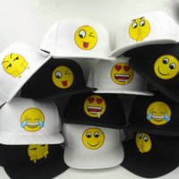 Wholesale cartoon Emoji pattern caps adult Baseball cap Flat along Hip hop Emoji personality hats design HHA860