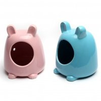 Wholesale Sundog Cute Pink And Blue Hamster Ceramic Cage Small Pet Habitat Toy House Supplies PC071T