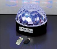 Wholesale MP3 magic crystal ball laser light bar KTV stage lights LED with remote control can be inserted SD card of India Zhongshan Yiwu