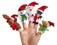 Wholesale hot Christmas Animal Finger Puppet Finger toy finger baby dolls Toys
