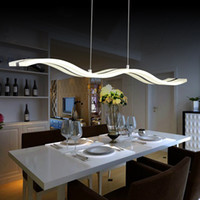acrylic table lamps - Modern LED Pendant Lamp Light Kitchen acrylic suspension hanging ceiling lamp design dining table lighting for Home dinning room Light W