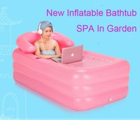Wholesale New Arrival Portable Inflatable Bathtub Adult Thickened PVC SPA Folding Portable Bathtub Inflatable Bath Tub With Zipper Cover Bath Barrel
