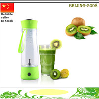 battery extractor - Hand Portable Electric Fruit Juice Mixer Cup Battery Automatic Milkshake Juicer Mixer Bottle Piece ml