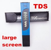 Wholesale ph Meter LCD display TDS Tester mini Water Filter Measuring for spas aquariums Purity Titanium probe large screen