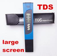Wholesale ph Meter LCD display TDS Tester mini Water Filter Measuring for spas aquariums Purity Titanium probe large screen