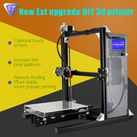 aluminum desktop - 2016 Desktop DIY D Printer ET i3 Printing Size mm Aluminum Frame LCD Screen Free Filament TF Card for Gift Fast Free Shiping
