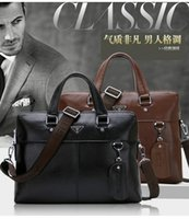 Wholesale New head layer cowhide briefcase for men s Leather handbags high grade the commercial package Much interlayer high volume business handbag