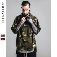 bamboo skateboard - INFLATION Thrasher Skateboard Hooded Bamboo Cotton Sweartshirt Pullover Sudadera Hombre Red Camouflage Hip Hop Hoodies