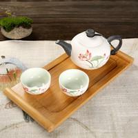 Wholesale Travel Portable Porcelain Ceramics Teaset Teapot Teacup Teacup Elegant Enjoy Tea Culture With Tray Bag