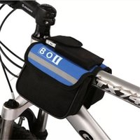 bicycle side baskets - 2016 New MTB Roswheel BOI Front Frame Tube Bicycle Bag Mountain Bike Cycling Pannier Sides Pouch Pack Bandy Colored Bag Basket