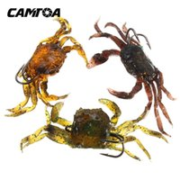 artificial fishing flies - CAMTOA Soft Fishing Lures Crab artificial Bait with Sharp Hooks Fishing Tackle accessory tool
