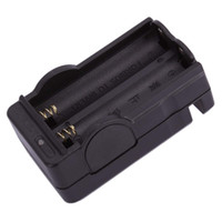 Wholesale 18650 Battery Chargers Dual Two Slots Chargers Universal Charger for Battery V V Black USA E03232