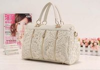 Wholesale Fashion Womens Lady Retro Lace PU Faux Leather Handbag Tote Ladies Crossbody Shoulder Lace Bags H10516
