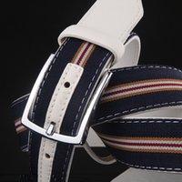 beaded belt buckles - New Pattern Man Belt Canvas Pin Buckle Belt Fashion Male Necessary