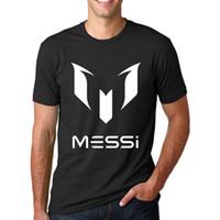 barcelona tee shirt - Fashion Barcelona MESSI Soccer Sport Short Sleeve Football T Shirts Men s Hip Hop O Neck T Shirt Summer Streetwear Tops Tee