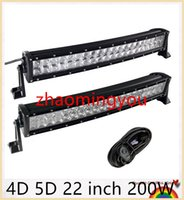 Wholesale YOO D D inch W Curved LED Work Light Bar for Tractor Boat OffRoad WD x4 Truck SUV ATV with Switch Wiring V v