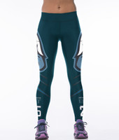Wholesale NEW Fashion Sexy Girl Women NF L football Rugby Seahawks D Prints High Waist Running GYM Tights Fitness Sport Leggings Yoga Pant