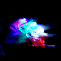 Wholesale LED Finger Light Glowing Dazzle Colour Laser Emitting Finger Ring Beams Ring Torch Wedding Party Christmas Celebration
