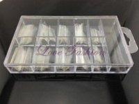 [JZJ-009] 100Pcs / Set Form Dual System Nail (package avec la boîte) pour acrylique UV Nail Art Tip + Livraison gratuite