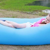 air bag inflation - Lightweight Air Sofa Sleep Bed Inflation Bag Lounger Couch Hiking Tool Inflatable Sofa for Outdoor Activities