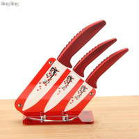 acrylic logo block - free custom logo High quality quot quot quot inch brand Kitchen Fruit Ceramic Knife Set Acrylic Holder block