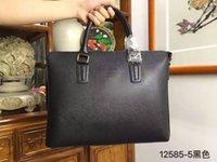 Wholesale High quality new fashionable man blue black briefcase business bag handbag Laptop bag
