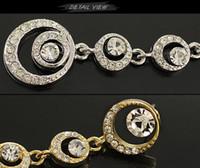 Wholesale New hot Full crystal hollow circle earrings Women Korean jewelry oriental beauty bridal accessories