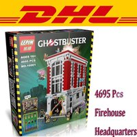Wholesale New LEPIN Ghostbusters Firehouse Headquarters Model Building Kits Minifigure Blocks Bricks Compatible Legoe