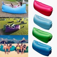 Wholesale New D Terylene Outdoor Fast Inflatable Sleeping Bags Portable Air Couch Comfortable Air Lounge Inflatable Sofa Bed