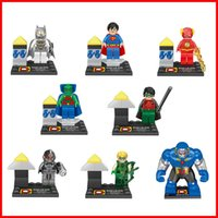 Wholesale RETAIL BOX Superhero Batman Martian Manhunter Flash superman Building Block DIY puzzle game figure Doll Minifigures educational toy
