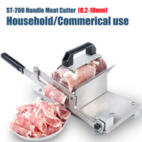 Wholesale ST stainless steel manual Frozen meat slicer handle meat cutting machine Vegetable slicing machine Mutton rolls machine