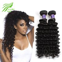 Wholesale Cheap Lace Frontal Brazilian Human Hair Deep Weaves Bunbles With Curly Lace Closure Natural Black Extensions Hair