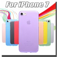 pp plastic case - 0 mm Ultra Thin Slim Matte Frosted Full Cover Transparent Clear Soft PP Case Skin For iPhone S Plus inch Free Ship MOQ
