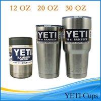 Wholesale 12 oz oz oz YETI Tumbler Rambler Cups Yeti Cooler Stainless Steel oz Mugs Large Capacity Stainless Steel Mugs