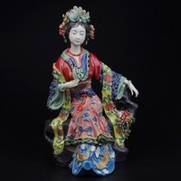 angels fine art - Chinese Antique Statues for Decoration Fine Art Porcelain Collectible Statue Marvel Angels Figurines Modern Sculpture Human