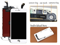 Wholesale AAA Quality for iPhone LCD Display With Touch Screen Digitizer with camera ring For IPhone NO DEAD PIXELS Free DHL