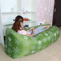 Wholesale Popular Design Inflatable Sofa Durable Outdoor Air sleeping Bed Double Layer Air Beach Sofa