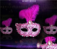 best uppers - 2016 best selling dance feather masks Princess Half Face Mask Venetian mask party show HJIA430
