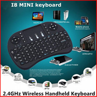 air media player - Wireless Keyboard Rii Mini i8 Air Mouse Multi Media Player Remote Control Touchpad for Android Smart TV Box MXIII M8 MXQ MX3 Mini PC