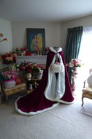 best hoods - Best Sales Dark Red Hood Bridal Cloaks With Faux Fur Trim Train Women Capes Winter Outwear Wraps Warm Perfect For Wedding Custom Made