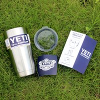 Wholesale Immediately Delivery YETI Tumbler Rambler Cups Stainless Steel oz Mugs Large Capacity Stainless Steel Travel Mugs