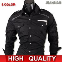 best western toppings - 2016 Best Mens Fashion Cotton Designer Cross Line Slim Fit Dress man Shirts Tops Western Casual S XXL
