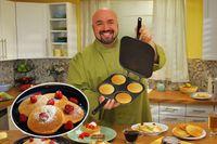 Wholesale Kitchen Tool New Perfect Pancake Pan Cake Maker Pan Flip jack Omelette Flip Jack Eggs Crepes DIY Cake Baking Moulds Free DHL shipping