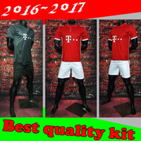 Wholesale Best Quality Bayern set Jerseys Shirt Robben Alonso Muller Lewandowski Vidal home away jersey Kit