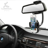 automobile rear view mirrors - Automobile rear view mirror mobile phone support vehicle rear mirror mobile phone navigation seat universal multifunctional hose mobile phon