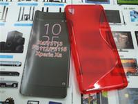achat en gros de dos xperia-Case S Line flexible TPU Housse de protection Retour pour Sony Xperia XA F3113 F3112 F3115 5,0 pouces DISPLAY