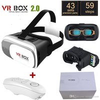 Wholesale 100PCS Google cardboard VR BOX II Version VR Virtual Reality D Glasses For inch Smartphone Bluetooth Controller