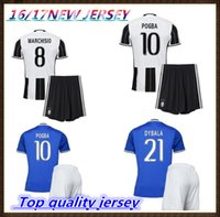 Wholesale Thailand quality custom Adult Kits Juventus Home Uniform Rugby Jerseys HIGUAIN Pogba DYBALA PJANIC MARCHISIO Jersey