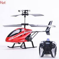 Wholesale 2CH Electric Outdoor Mini RC Helicopter Drone With Remote Control LED Light Children Kid Toys Birthday Gift Remote Control Top Hot SV007736
